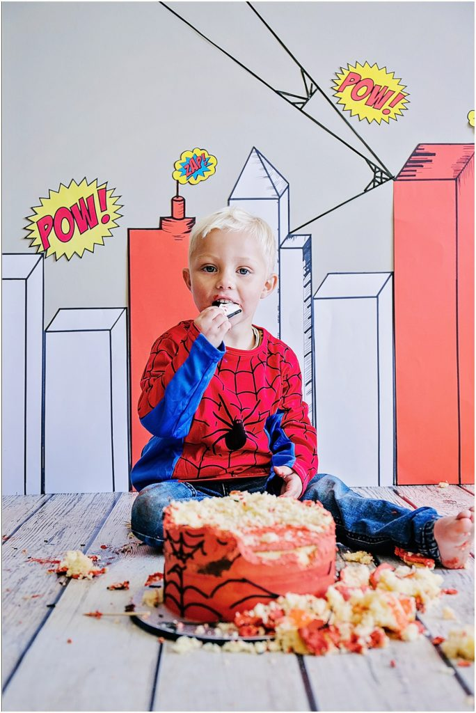 Superheroes Spiderman Cake Smash Pretoria Appelliefie Art